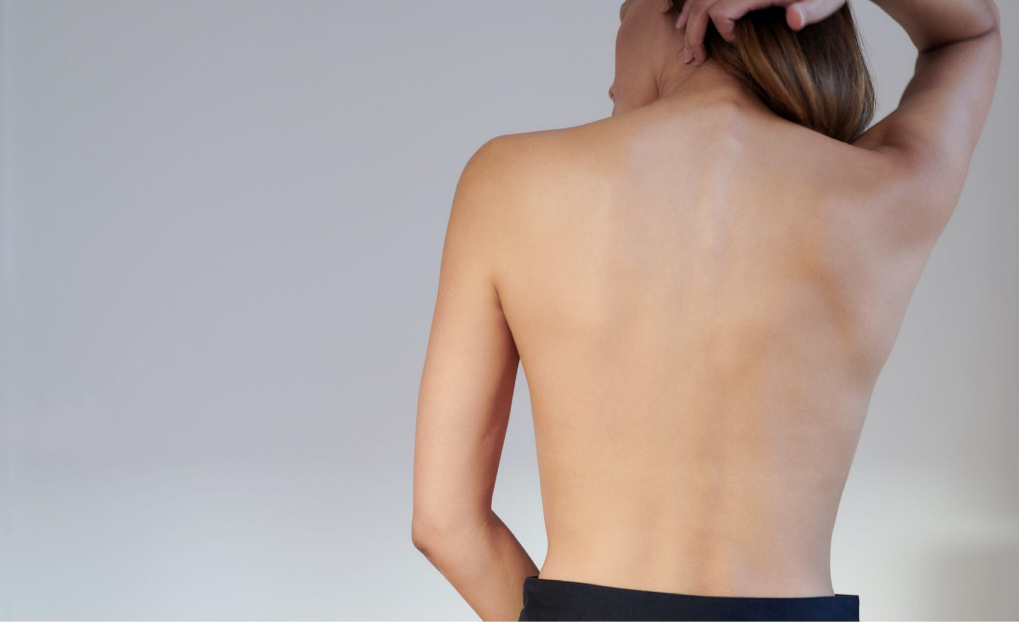 woman's bare back